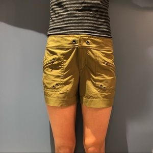 ATHLETA army green shorts